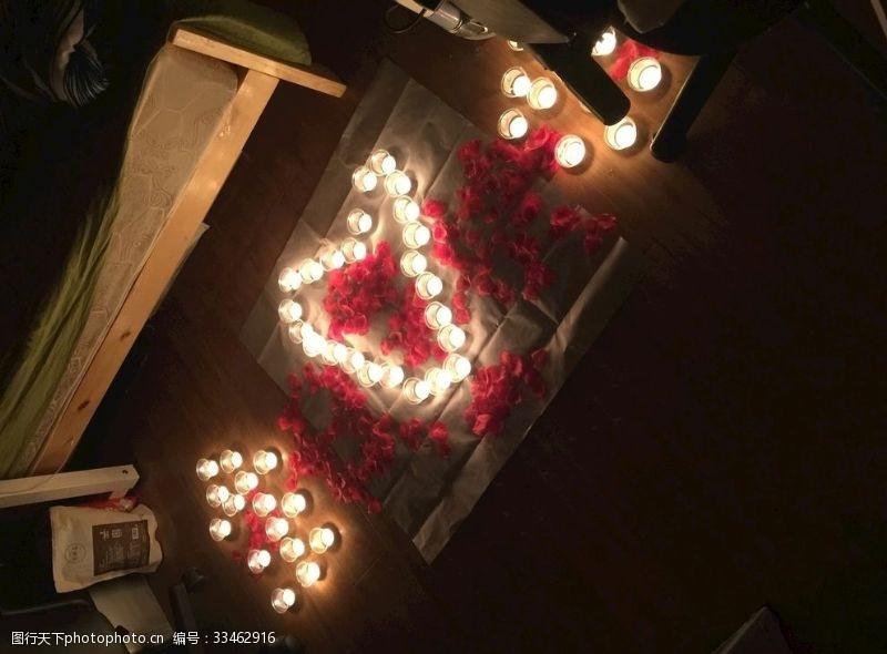 生日快樂蠟燭玫瑰花板元素底圖