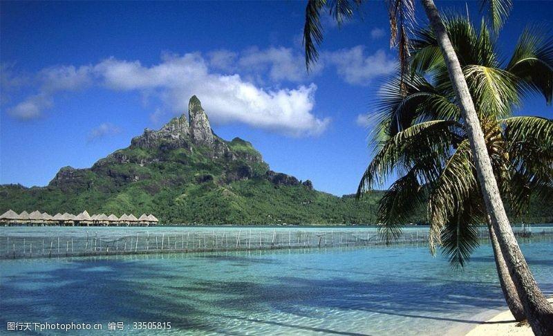 熱帶島嶼海灘自然風光
