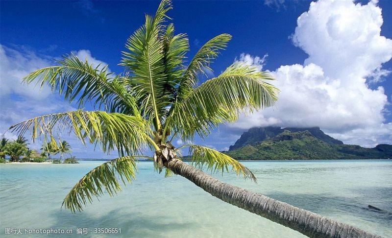 熱帶島嶼海灘自然風光高清風景