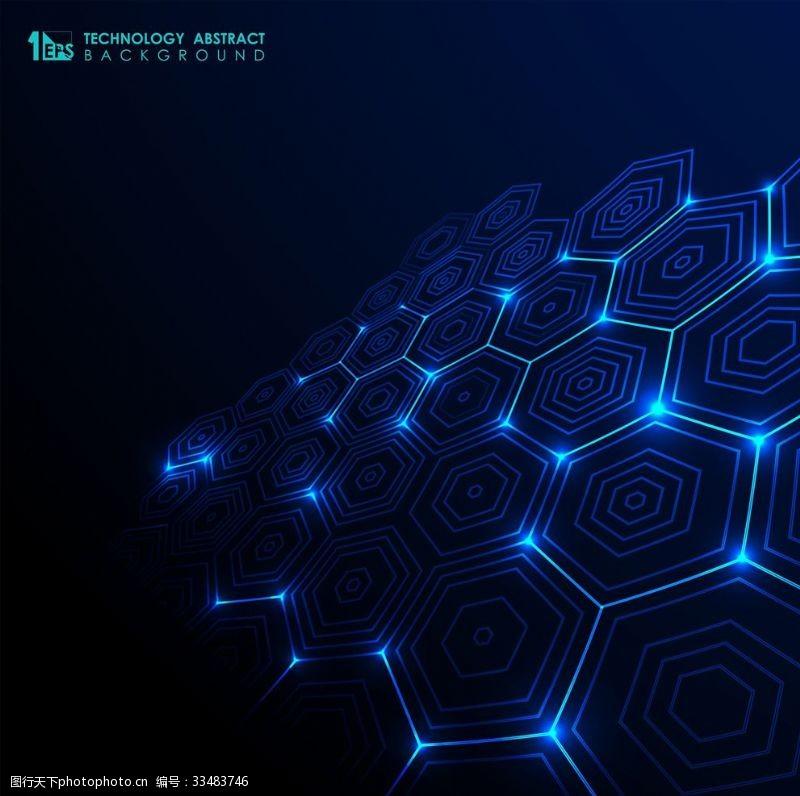 藍色背景科技背景
