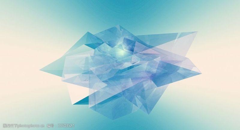 蓝色水晶渐变背景