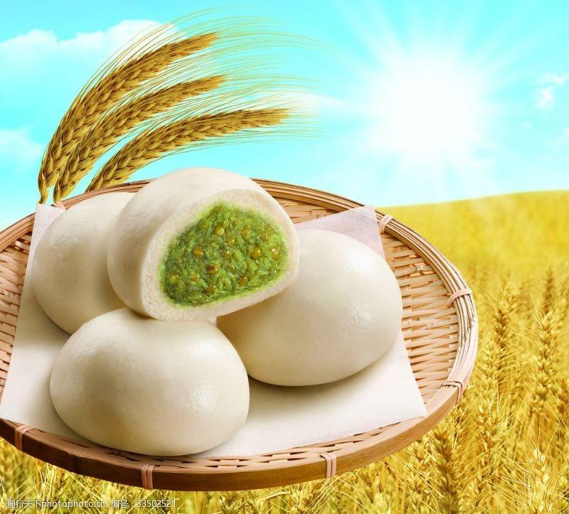 水饺绿豆包