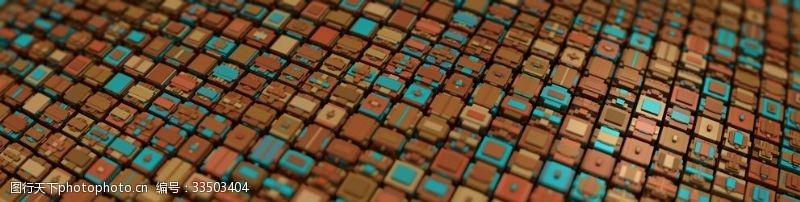 彩色立體方塊背景