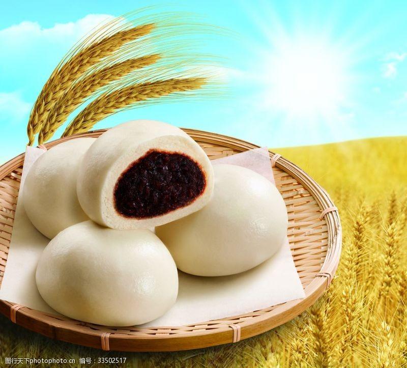 水饺豆沙包