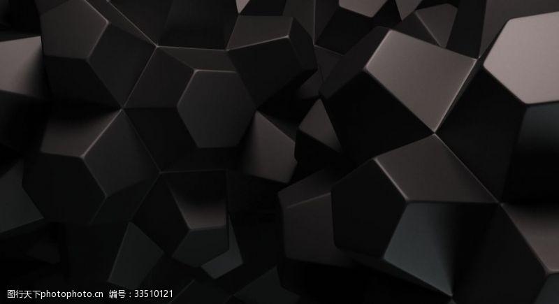黑色立體背景