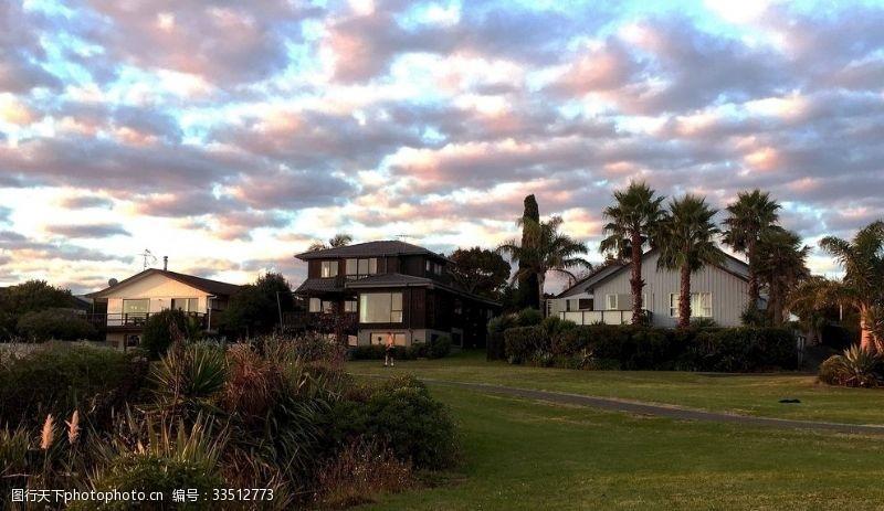 新西蘭海濱小鎮風景