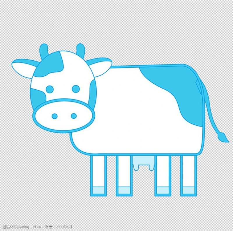 卡通牛相关背景