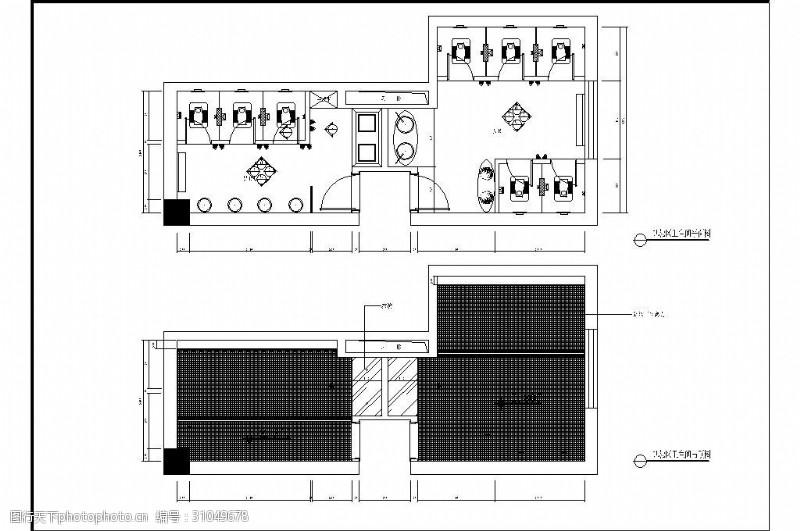 室内设计平面图公共空间卫生间平面布置图设计