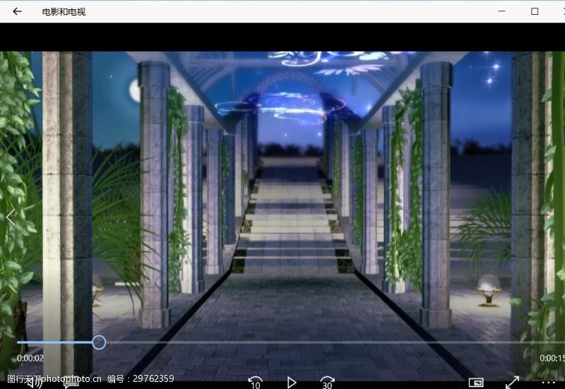 游戏世界婚礼走廊背景