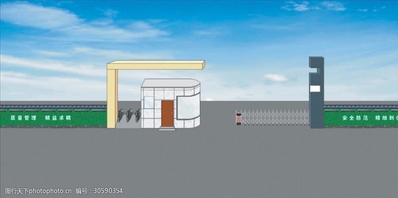 大门改造大门设计室外模型