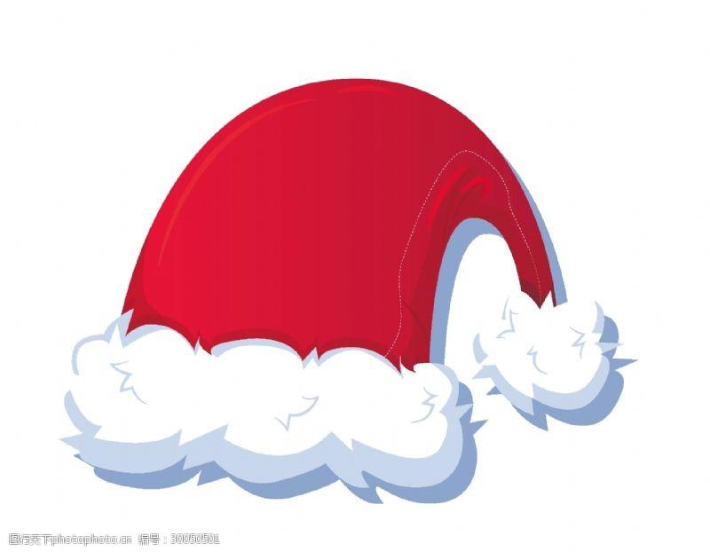 欢庆节日卡通圣诞节帽子元素