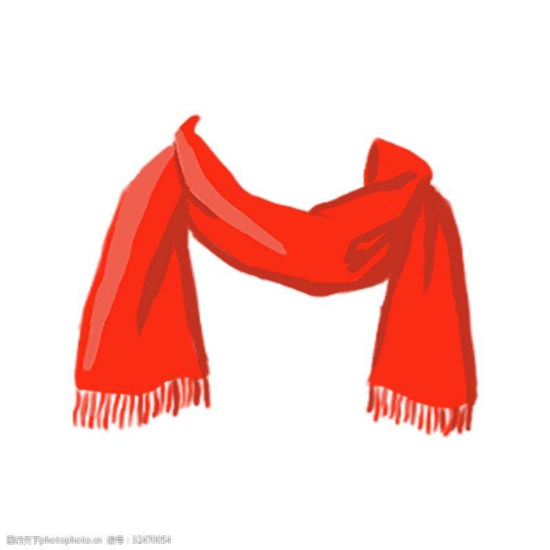 欢庆节日节日主题新年喜庆质感大红色围巾