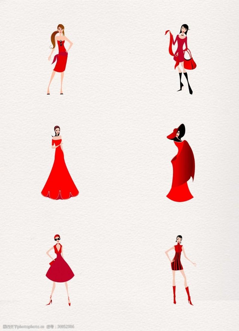 创意服装设计红色晚装裙子设计