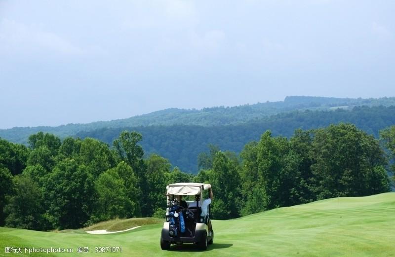 高尔夫车背景