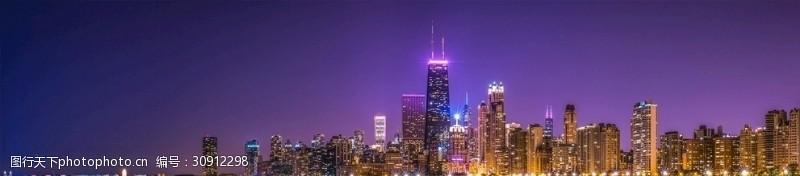 芝加哥夜景芝加哥夜景远眺