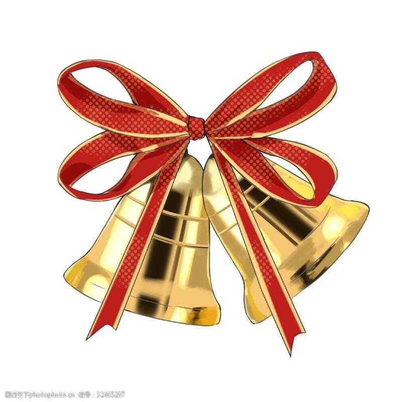 彩铃手绘创意插画圣诞铃铛
