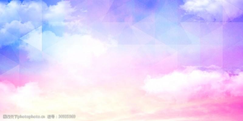 粉色唯美艺术天空背景