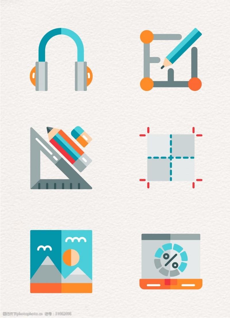矢量6组网页设计元素设计