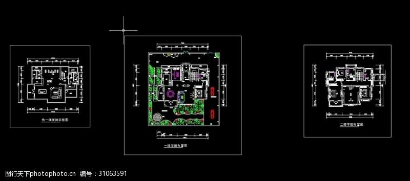 家装设计平面顶面水电控制图
