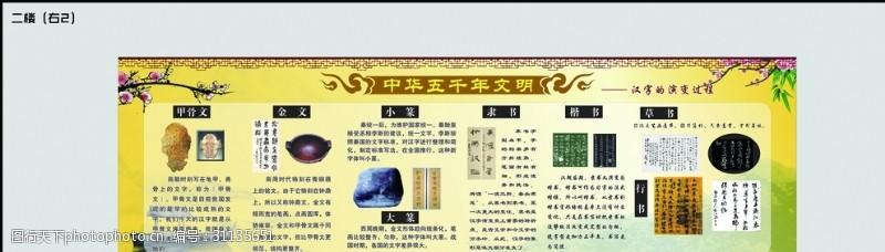 古典文化展板中华五千年文明