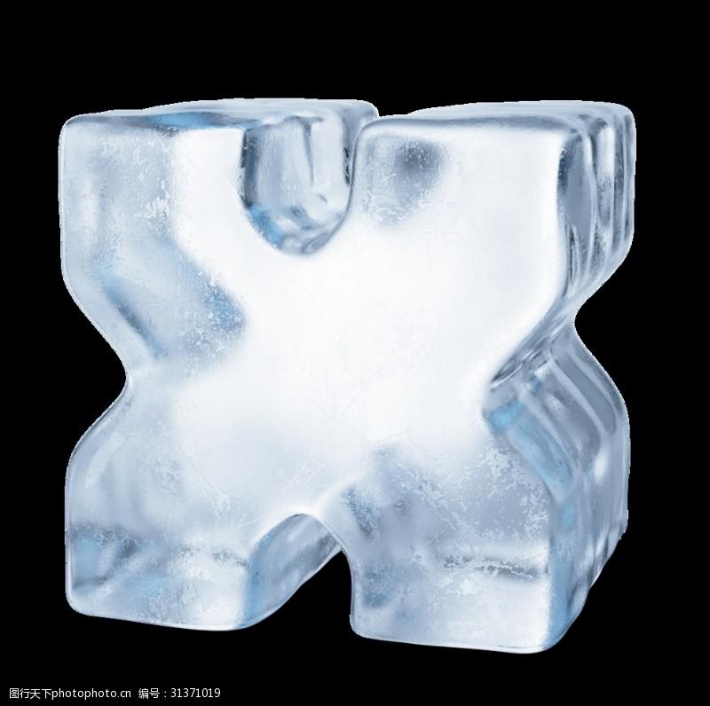 浮雕字体冰冻字母