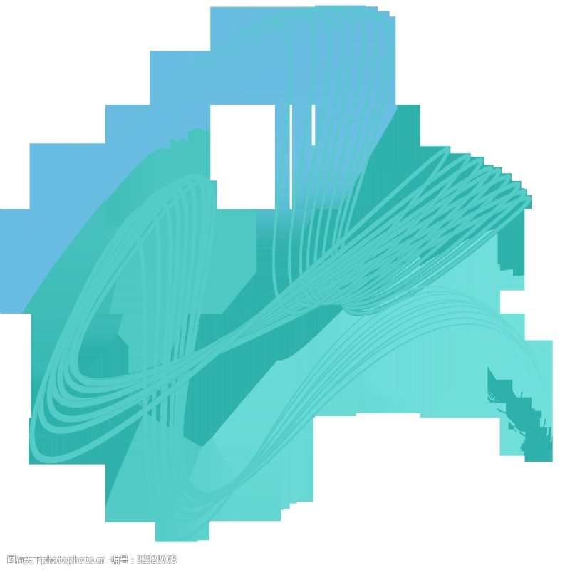 张力线条装饰图案弧线