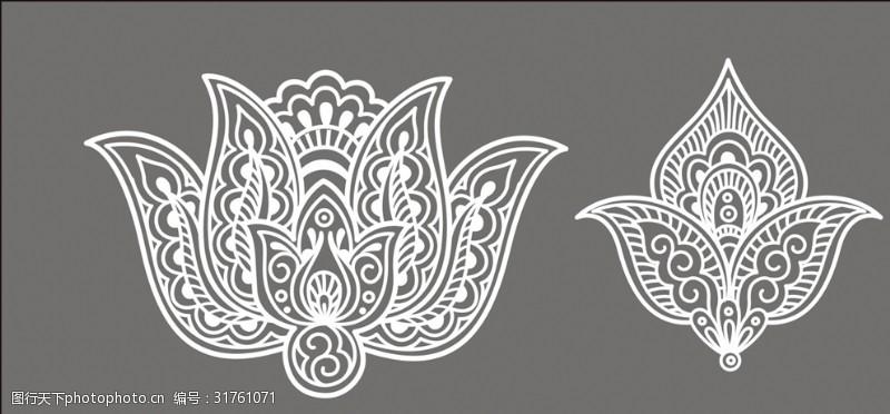 民族花边装饰花纹