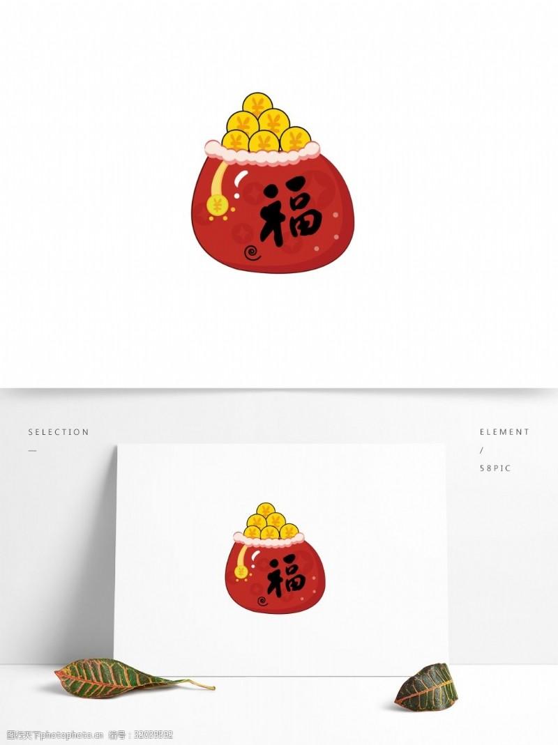 商用红包红包节日金币矢量元素可商用