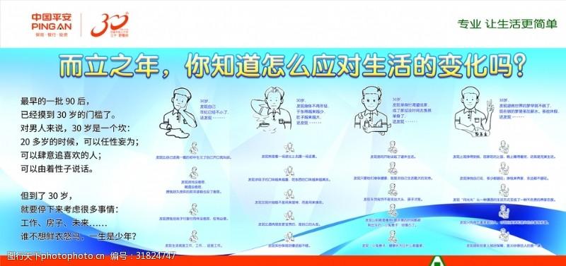 中国平安展板而立之年