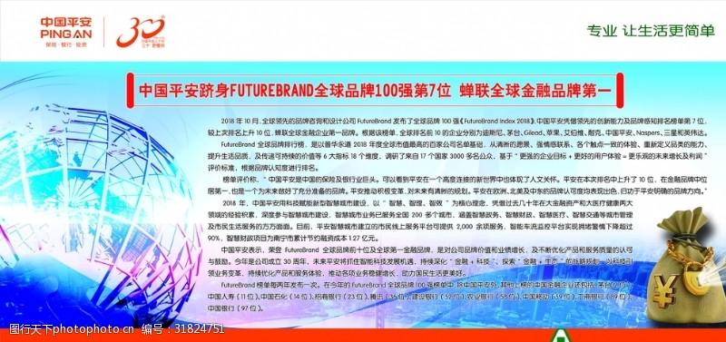 中国平安展板素材