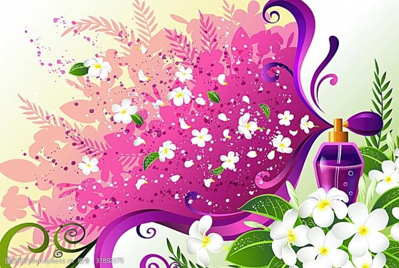 花式背景矢量花卉插画