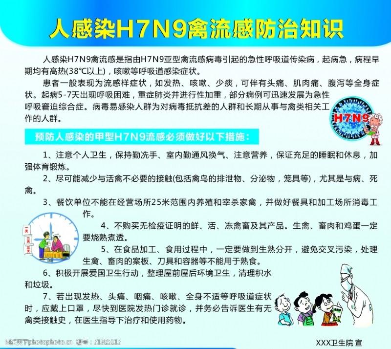 饮食原则人感染H7N9禽流感防治知识