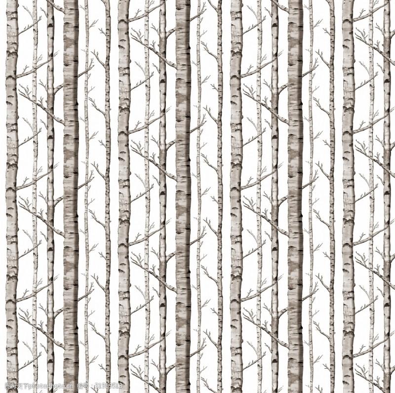 个性墙纸树林墙纸图案设计