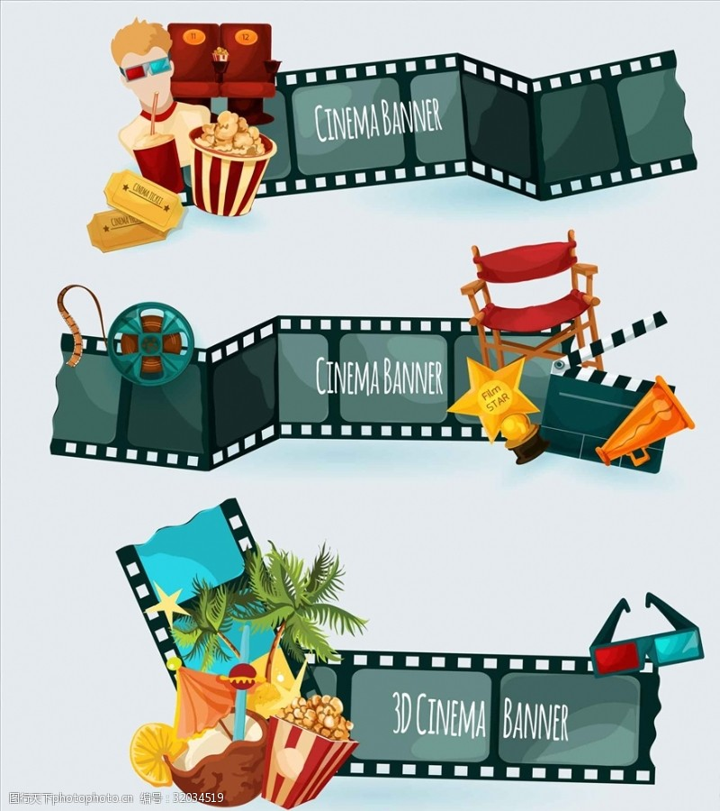 电影素材电影设备元素