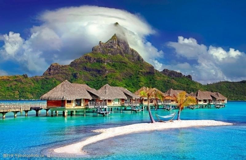 天堂岛风景画