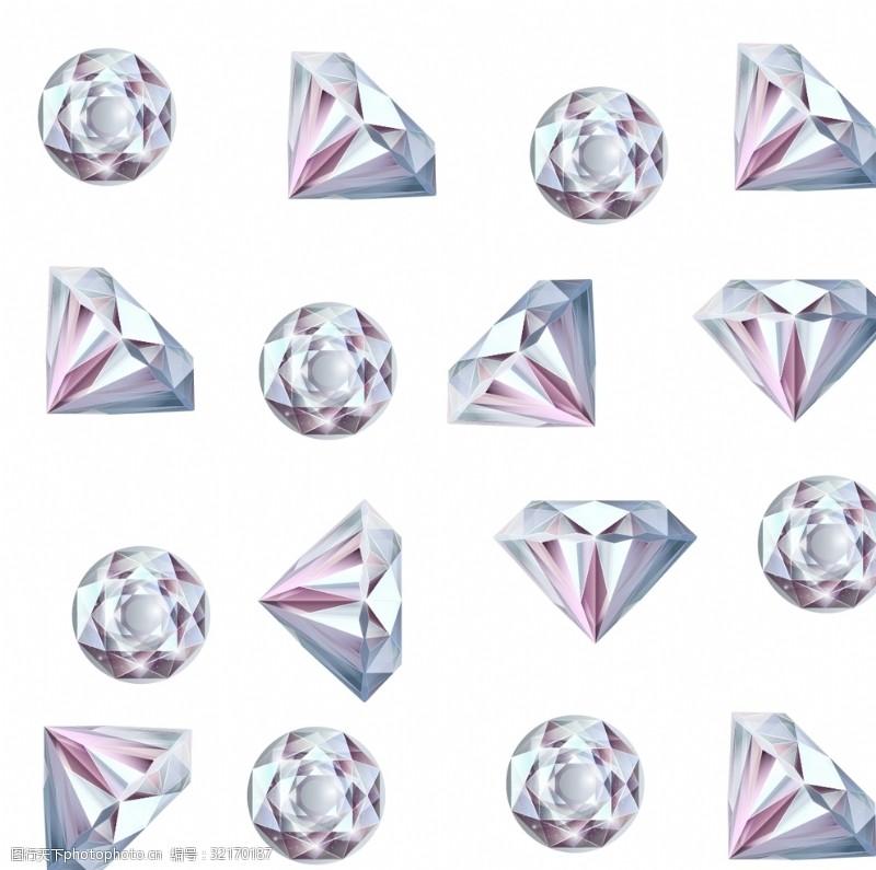 钻石切割切割钻石背景