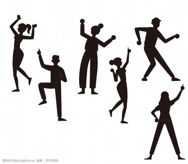 艺术体操女性运动剪影