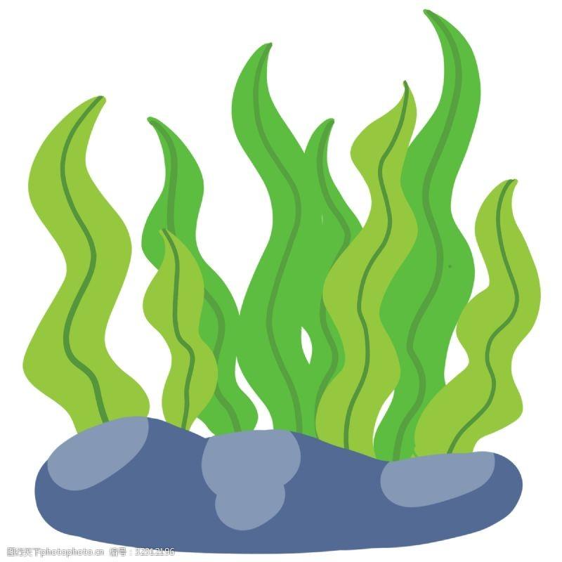 鱼缸背景矢量图_绿色海草图片免费下载_绿色海草素材_绿色海草模板-图行天下素材网