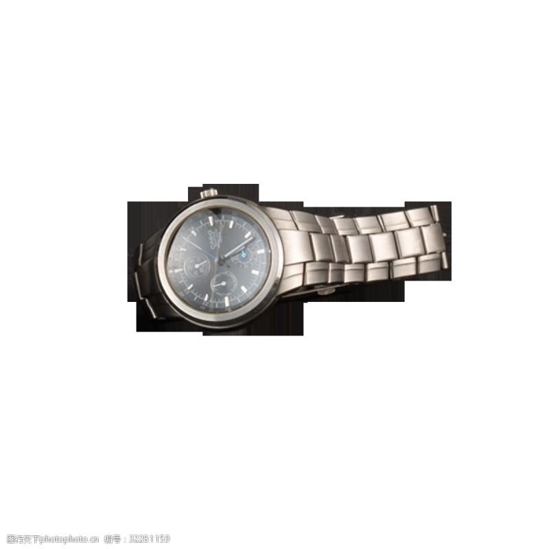 成功男士灰色金属手表元素
