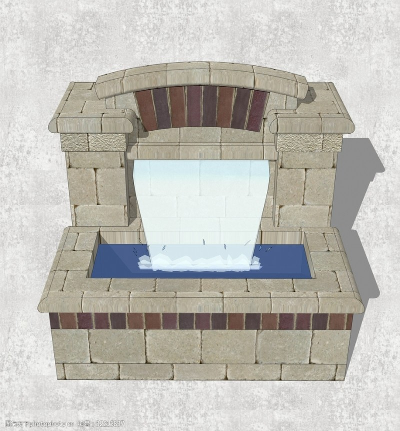 喷泉设计流水景墙