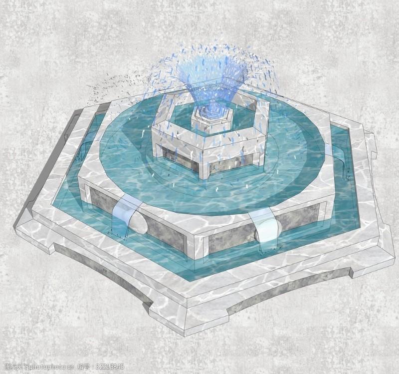 休闲水景喷泉