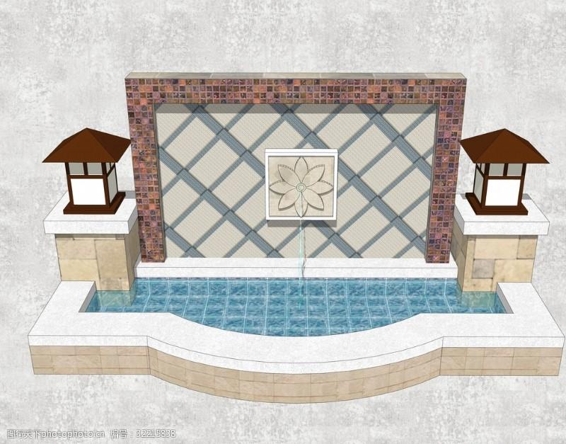 喷泉设备休闲水景