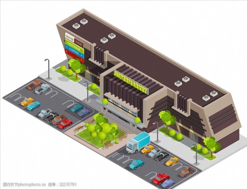 手绘货车超市规划