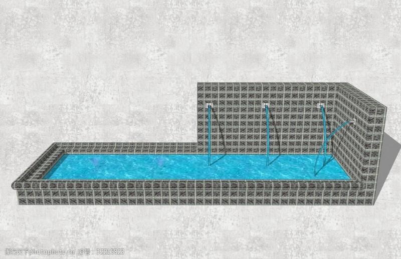 喷泉设备流水景墙