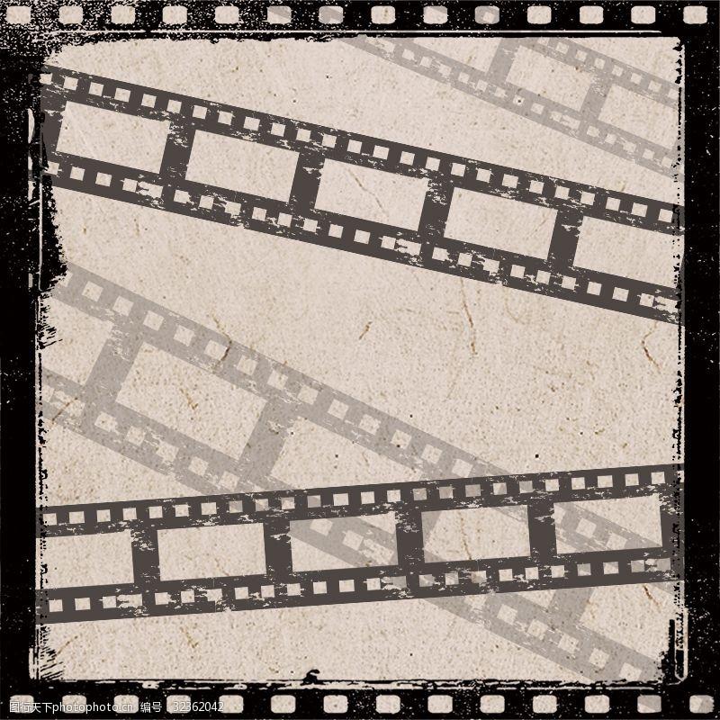 胶片背景欧式简约影视海报展板画册矢量背景素材