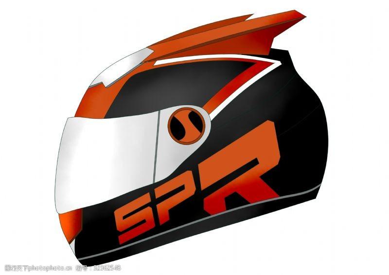 防护与保护漂亮的红色头盔插图