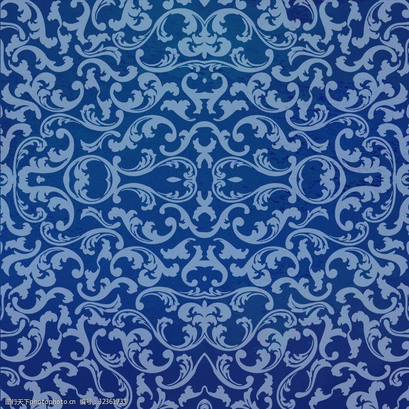 青花瓷素材中国风青花瓷背景素材