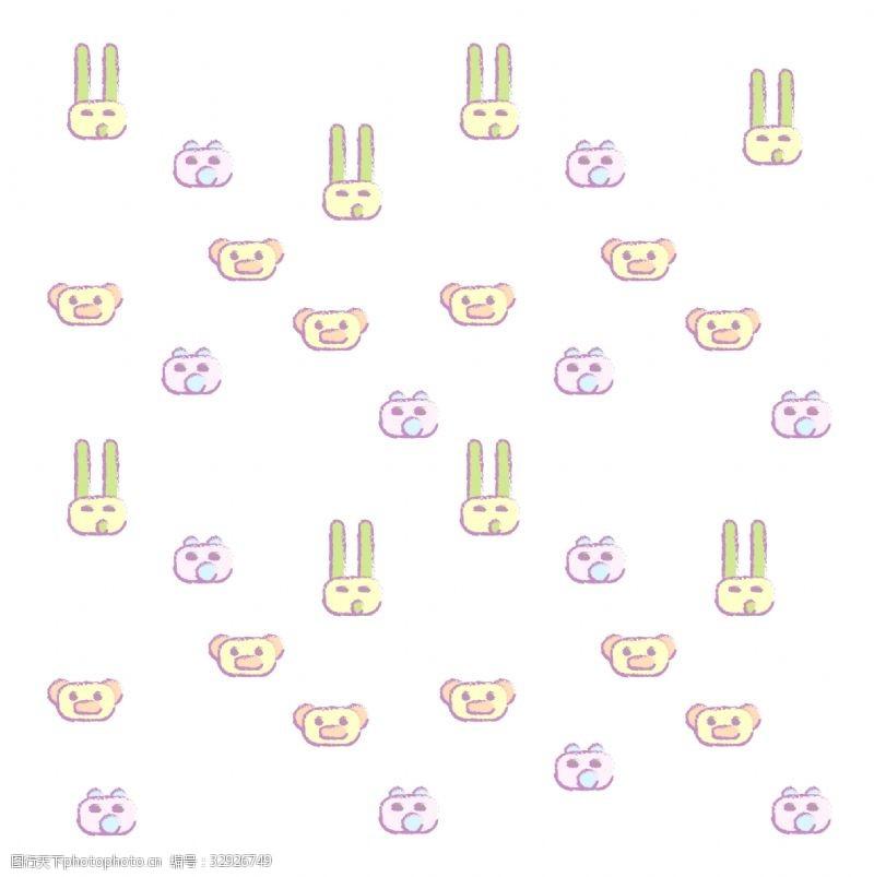 兔子底纹可爱的动物底纹插画