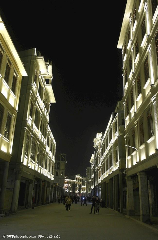 老市区汕头小公园夜景
