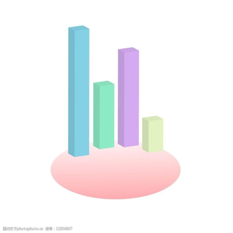 数据ppt模板彩色柱状图PPT数据